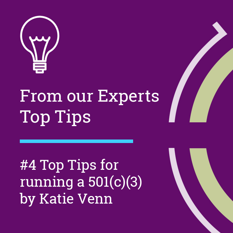 Top Tips for running a 501(c)(3)